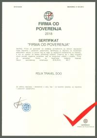 felix travel sertifikat