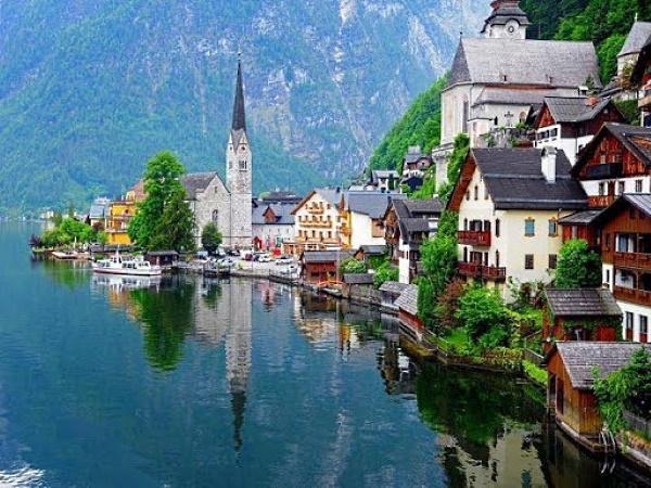 Jesen Putovanje Salzburg Halštat Jezera Austrije 2020