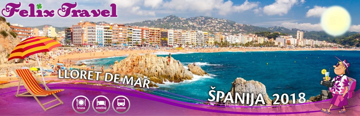 Letovanje Španija Ljoret De Mar 2018