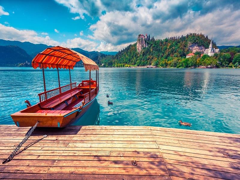 Putovanje Leto Slovenija Jezero Bled