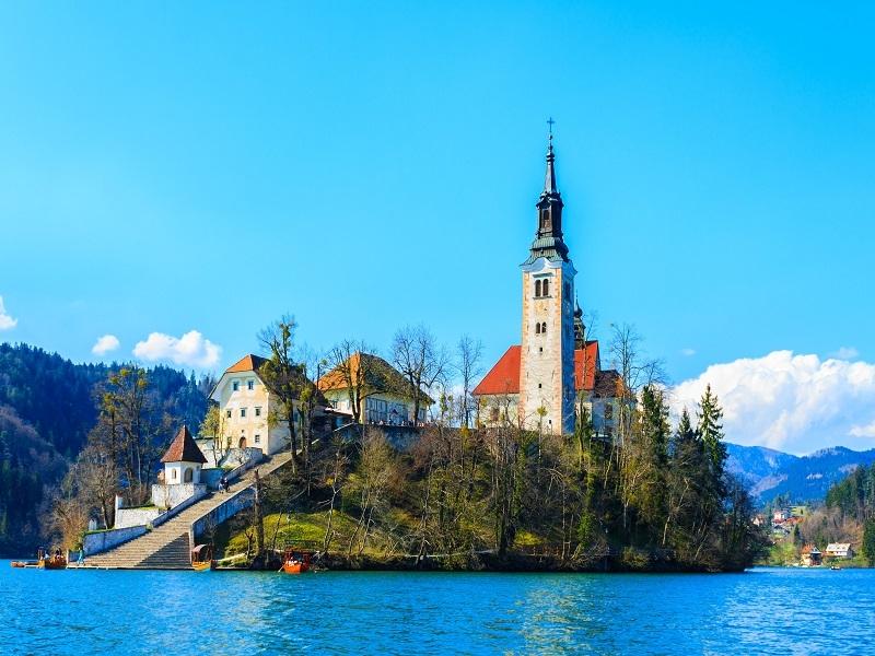 Putovanje Leto Slovenija Bled Pogled