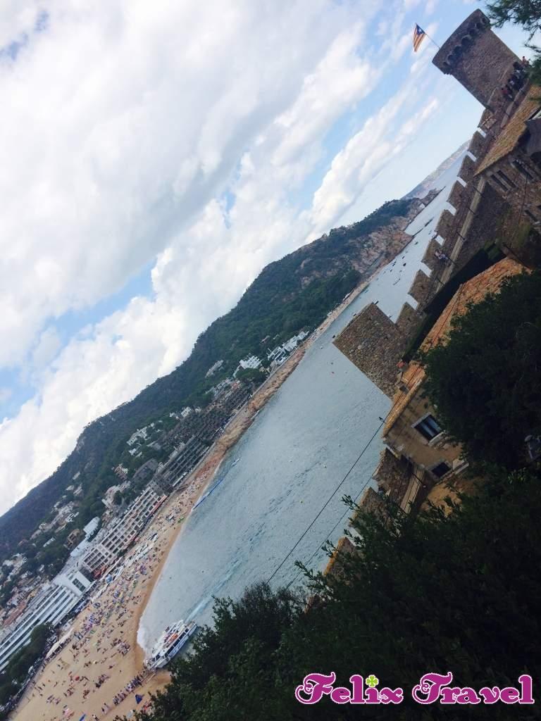 Španija Letovanje Ljoret De Mar 2018 Plaža Mesto